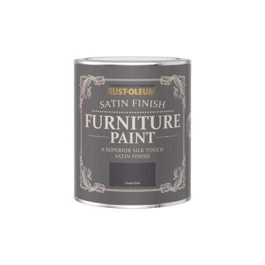 Rust-Oleum Satin Furniture Paint Grape Soda 750ml