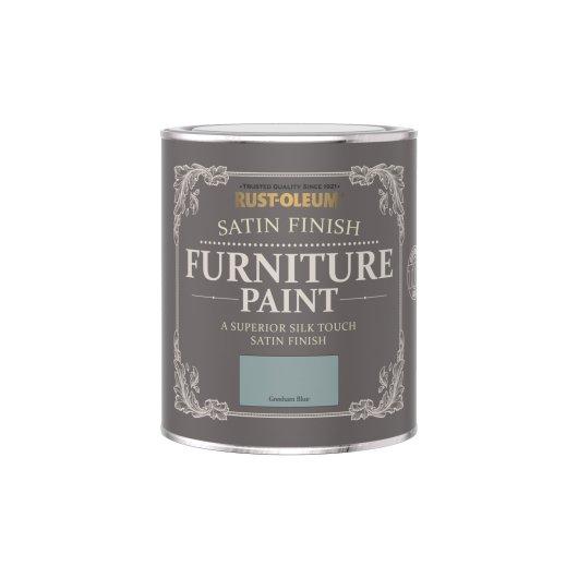 Rust-Oleum Satin Furniture Paint Gresham Blue 750ml