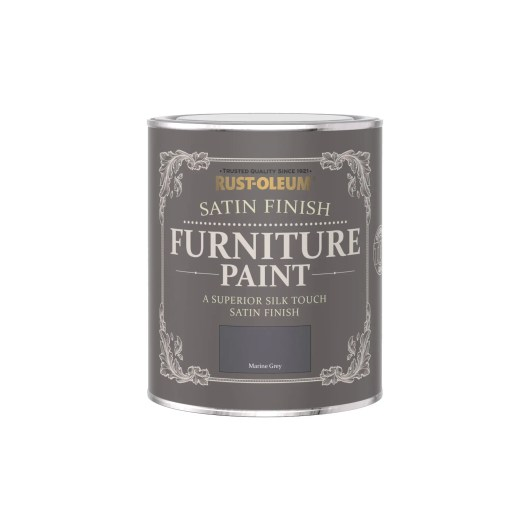 Rust-Oleum Satin Furniture Paint Marine Grey 750ml
