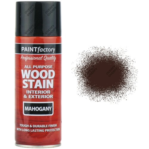 1-x-400ml-All-Purpose-Mahogany-Satin-Finish-Spray-Paint-RedBrown-Wood-Stain-331934409749