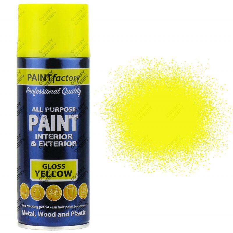 Yellow Gloss Spray Paint All Purpose 400ml
