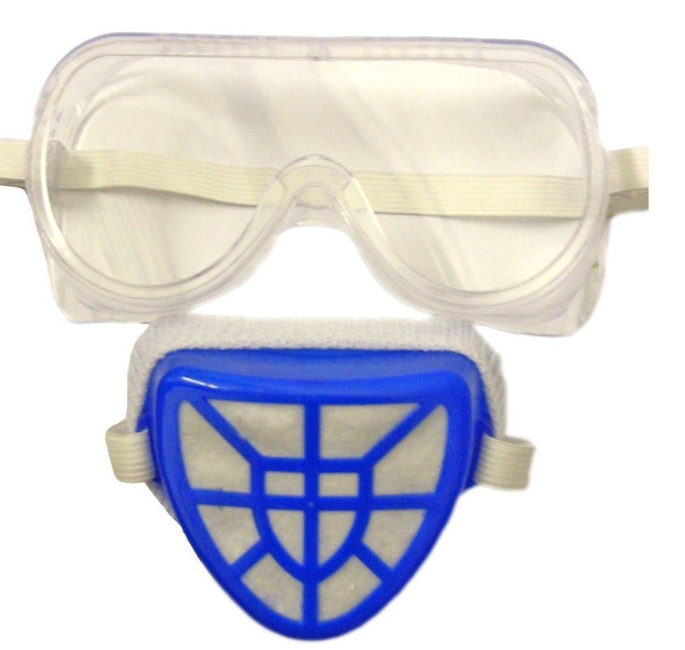 2pc-Safety-Goggles-And-Dust-Mask-Filter-Set-Builders-DIY-PPE-391774551638-2