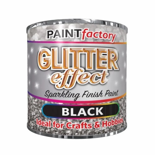 Black-Glitter-Effect-Colour-Brush-Paint-Decorative-Creative-Crafts-125ml-392072370866
