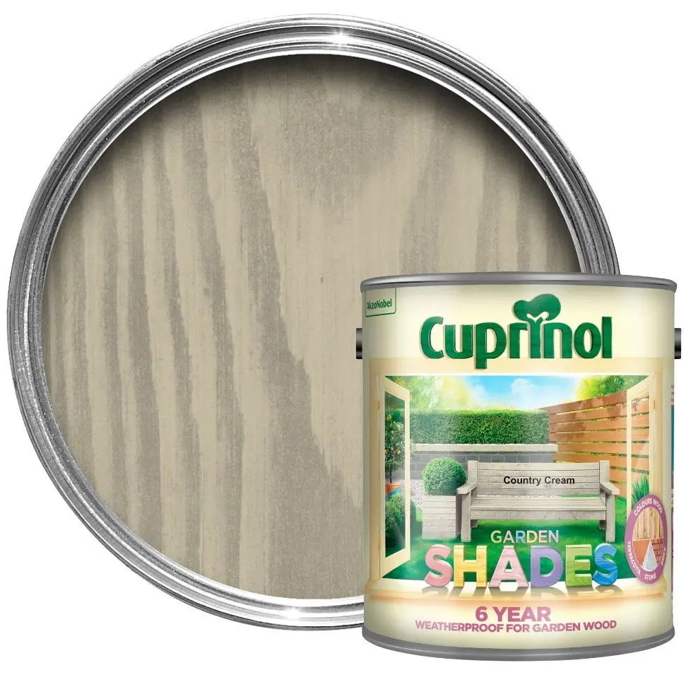 Cuprinol Country Cream 6 Year Garden Shades Paint Wood