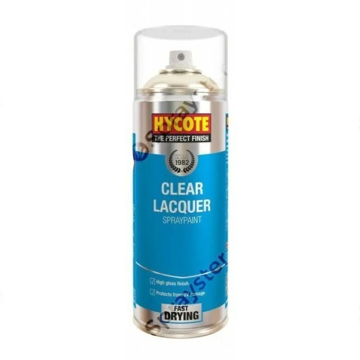 Hycote-Clear-Lacquer-Gloss-Spray-Paint-Aerosol-Auto-Car-400ml-XUK0232-372671536370