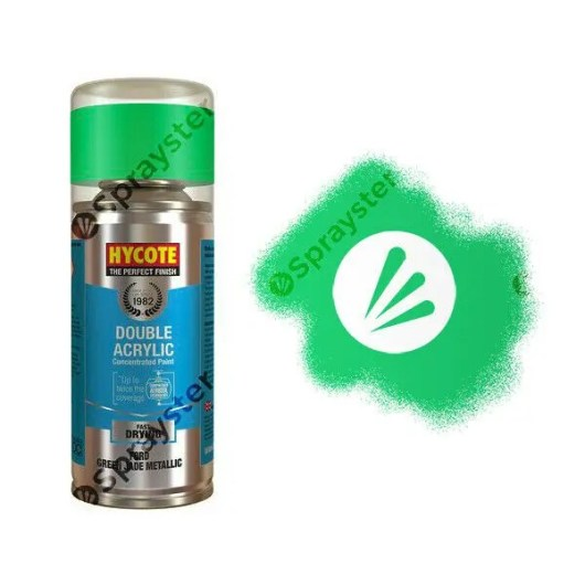 Hycote-Ford-Green-Jade-Metallic-Spray-Paint-Enviro-Can-All-Purpose-XDFD303-372696190137