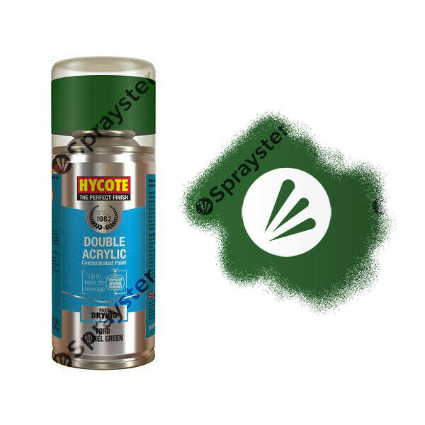 Hycote-Ford-Laurel-Green-Gloss-Spray-Paint-Enviro-Can-All-Purpose-XDFD305-333247151303