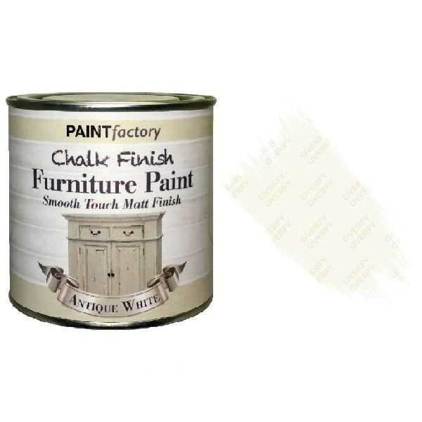 Paint-Factory-Chalk-Chalky-Furniture-Paint-250ml-Antique-White-Matt-332370228556