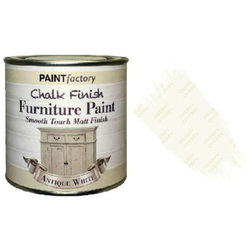 Paint-Factory-Chalk-Chalky-Furniture-Paint-250ml-Antique-White-Matt-332370228556