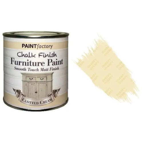 Paint-Factory-Chalk-Chalky-Furniture-Paint-250ml-Clotted-Cream-White-Matt-372067412977