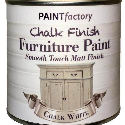 Paint-Factory-Chalk-Chalky-Furniture-Paint-250ml-White-Matt-391881656129