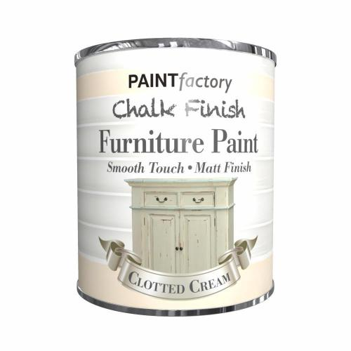 Paint-Factory-Chalk-Chalky-Furniture-Paint-650ml-Clotted-Cream-Matt-372339960154