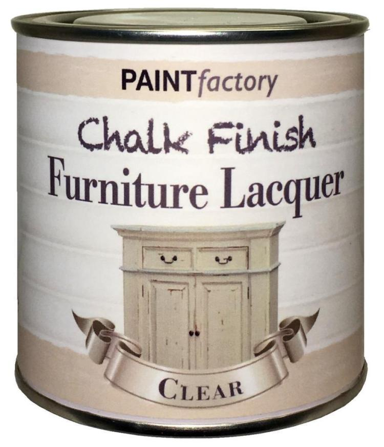 Paint-Factory-Furniture-Clear-Lacquer-Matt-Chalky-Paint-Shabby-Chic-200ml-372067467215