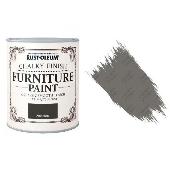 Rust-Oleum-Chalk-Chalky-Furniture-Paint-Chic-Shabby-125ml-Anthracite-Matt-331824914504