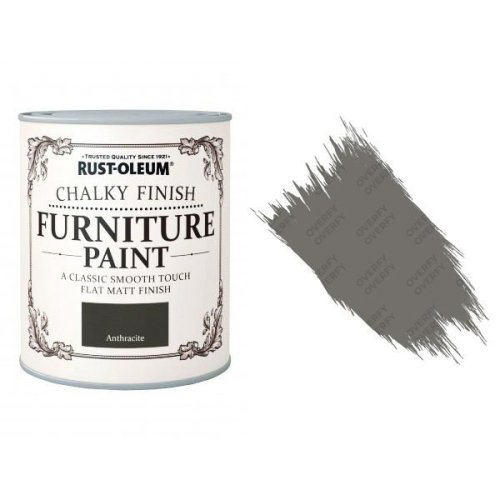 Rust-Oleum-Chalk-Chalky-Furniture-Paint-Chic-Shabby-125ml-Anthracite-Matt-331824914504