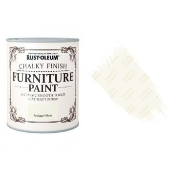 Rust-Oleum-Chalk-Chalky-Furniture-Paint-Chic-Shabby-125ml-Antique-White-Matt-371594510779