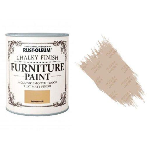 Rust-Oleum-Chalk-Chalky-Furniture-Paint-Chic-Shabby-125ml-Butterscotch-Matt-391428357612