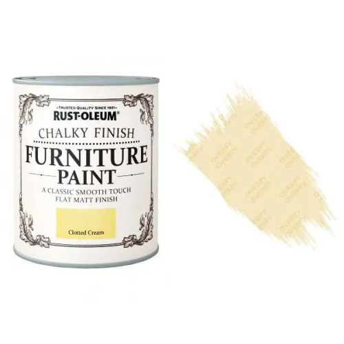 Rust-Oleum-Chalk-Chalky-Furniture-Paint-Chic-Shabby-125ml-Clotted-Cream-Matt-391428357609