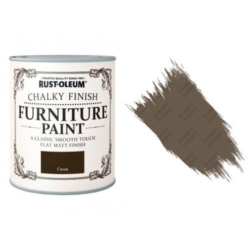 Rust-Oleum-Chalk-Chalky-Furniture-Paint-Chic-Shabby-125ml-Cocoa-Matt-331825010101