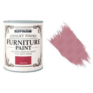 Rust-Oleum-Chalk-Chalky-Furniture-Paint-Chic-Shabby-125ml-Dusky-Pink-Matt-331825010102
