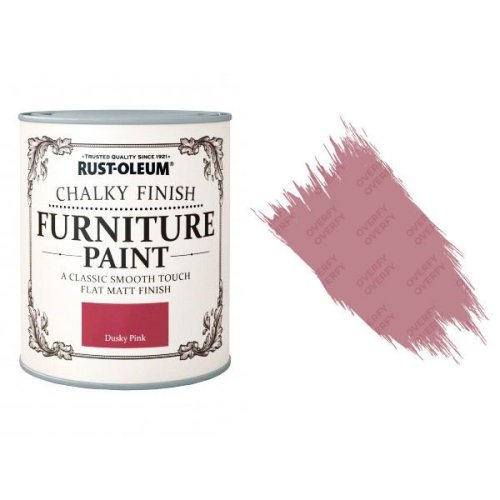 Rust-Oleum-Chalk-Chalky-Furniture-Paint-Chic-Shabby-125ml-Dusky-Pink-Matt-331825010102
