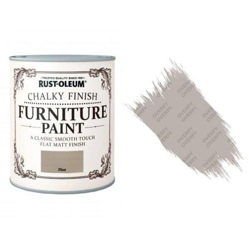Rust-Oleum-Chalk-Chalky-Furniture-Paint-Chic-Shabby-125ml-Flint-Matt-371594510788
