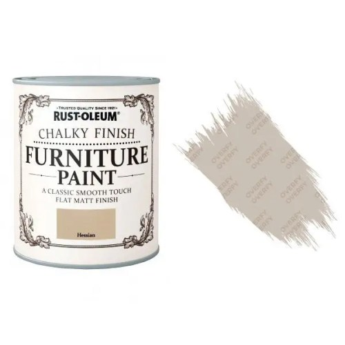 Rust-Oleum-Chalk-Chalky-Furniture-Paint-Chic-Shabby-125ml-Hessian-Matt-331825010107