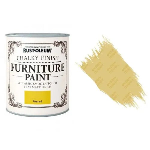 Rust-Oleum-Chalk-Chalky-Furniture-Paint-Chic-Shabby-125ml-Mustard-Matt-371594510781