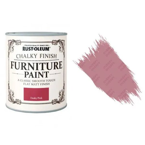 Rust-Oleum-Chalk-Chalky-Furniture-Paint-Chic-Shabby-750ml-Dusky-Pink-Matt-391428379052