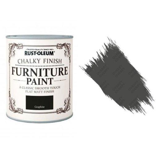 Rust-Oleum-Chalk-Chalky-Furniture-Paint-Chic-Shabby-750ml-Graphite-Matt-391428366085