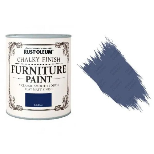 Rust-Oleum-Chalk-Chalky-Furniture-Paint-Chic-Shabby-750ml-Ink-Blue-Matt-391428379042
