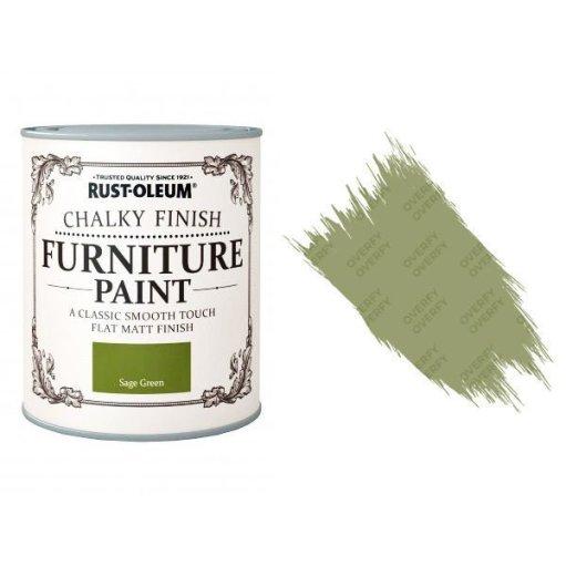 Rust-Oleum-Chalk-Chalky-Furniture-Paint-Chic-Shabby-750ml-Sage-Green-Matt-331825035122
