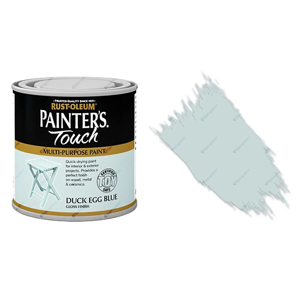 Rust-Oleum-Painters-Touch-Multi-Surface-Paint-Duck-Egg-Blue-Gloss-250ml-Toy-Safe-391992432271