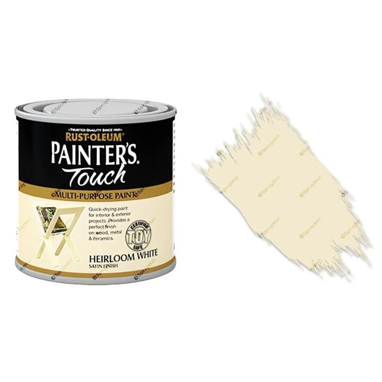 Rust-Oleum-Painters-Touch-Multi-Surface-Paint-Heirloom-White-Satin-250m-Toy-Safe-391992432273