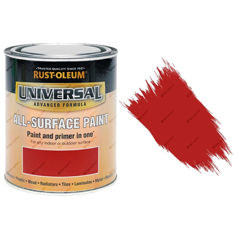 Rust-Oleum-Universal-All-Surface-Self-Prime-Brush-Paint-Gloss-Cardinal-Red-250ml-391986702351