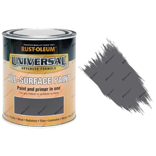 Rust-Oleum-Universal-All-Surface-Self-Primer-Brush-Paint-Gloss-Dark-Grey-250ml-372229925942