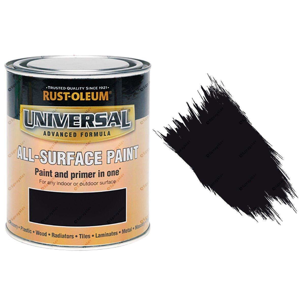 Rust-Oleum-Universal-All-Surface-Self-Primer-Brush-Paint-Satin-Black-250ml-391986702359