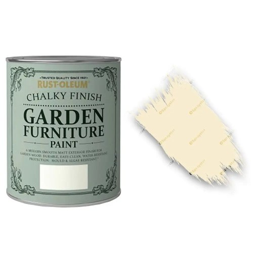 x1-Rust-Oleum-Chalk-Chalky-Garden-Furniture-Brush-Paint-750ml-Clotted-Cream-372207897385