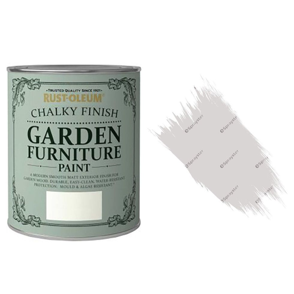 x1-Rust-Oleum-Chalk-Chalky-Garden-Furniture-Brush-Paint-750ml-Flint-Matt-372207981850