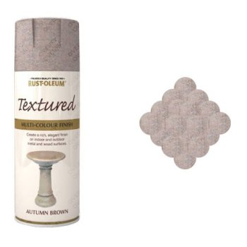 Rust-Oleum Autumn Brown Textured Spray Paint 400ml