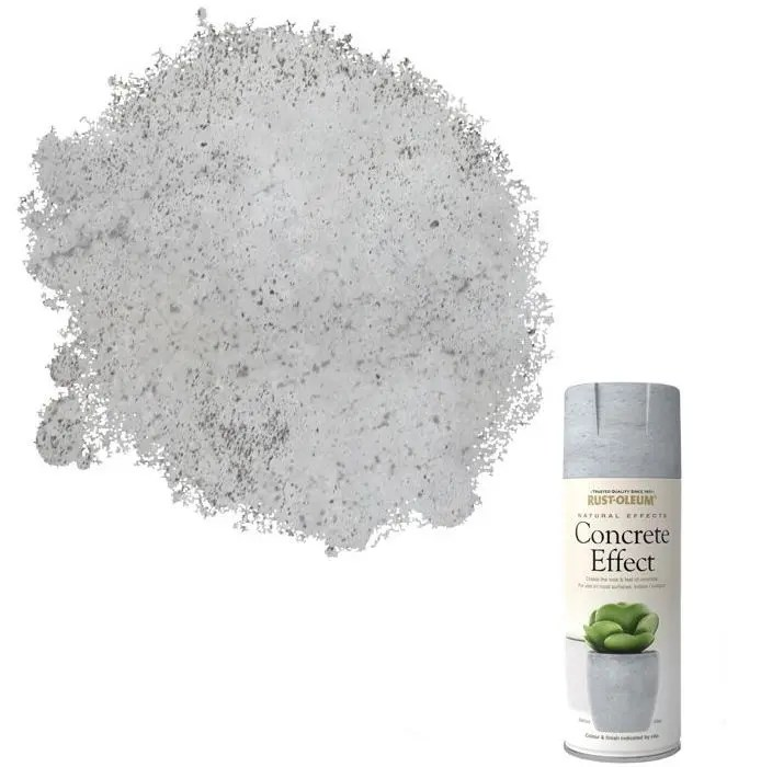 Rust-Oleum Concrete White Grey Spray Paint 400ml