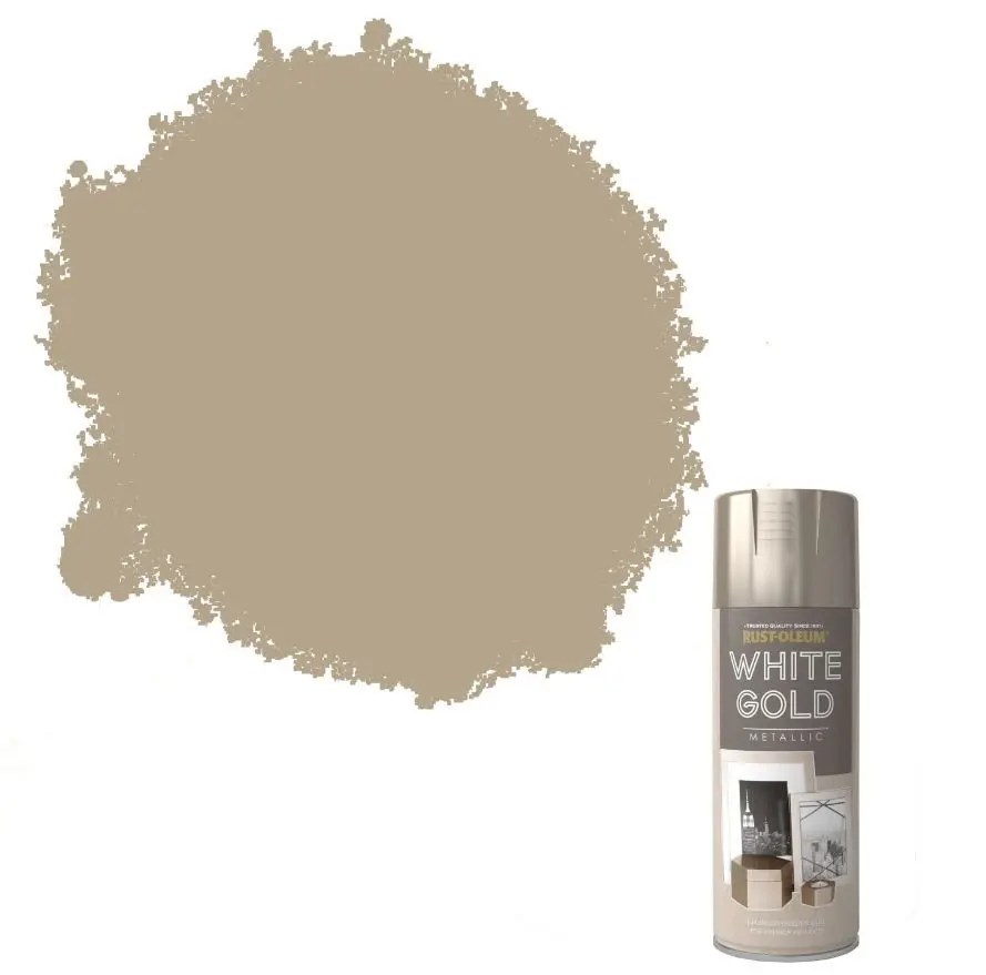 Rust-Oleum Metallic White Gold Spray Paint 400ml