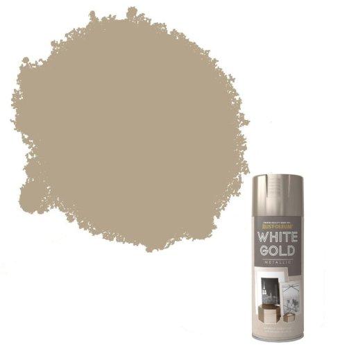 x1-Rust-Oleum-Multi-Purpose-Premium-Spray-Paint-400ml-Metallic-White-Gold-372061624252