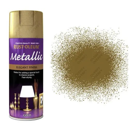 x1-Rust-Oleum-Multi-Purpose-Premium-Spray-Paint-Indoor-Outdoor-Metallic-Gold-391388865513