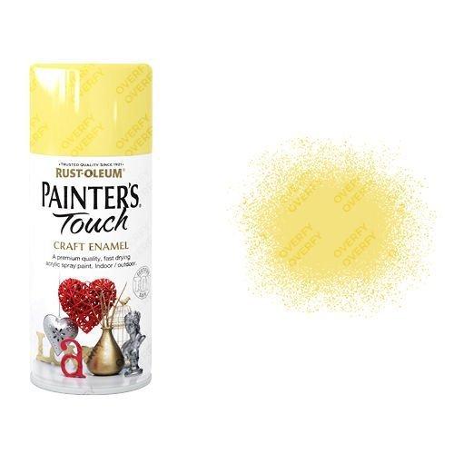 Rust-Oleum Buttercup Yellow Gloss Spray Paint Painter's Touch Craft Enamel 150ml