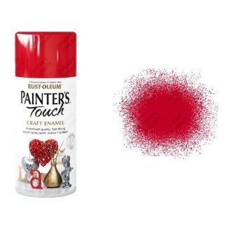 Rust-Oleum Cherry Red Gloss Spray Paint Painter's Touch Craft Enamel 150ml
