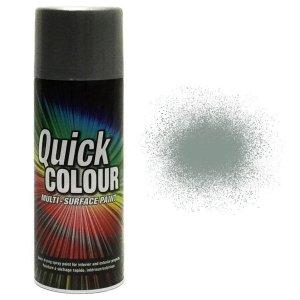 x1-Rust-Oleum-Quick-Colour-Multi-Purpose-Aerosol-Spray-Paint-Dark-Grey-Gloss-371797228815