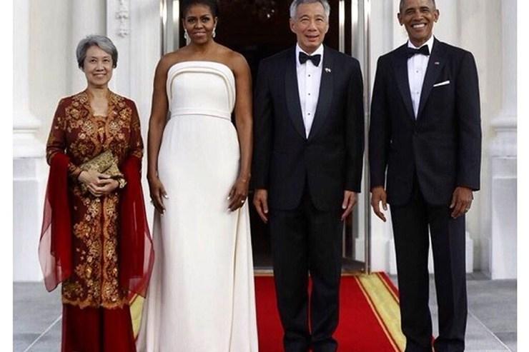 Michelle Obama Stuns In White State Dinner Dress