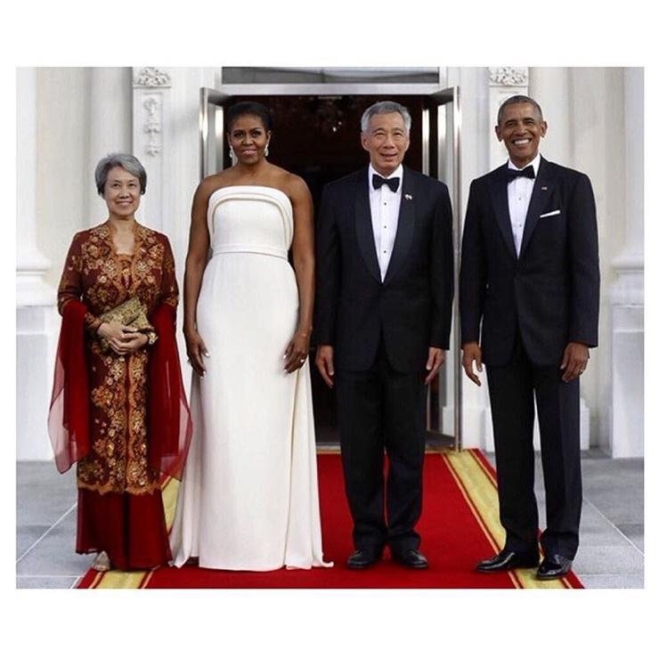 Michelle Obama state dinner dress