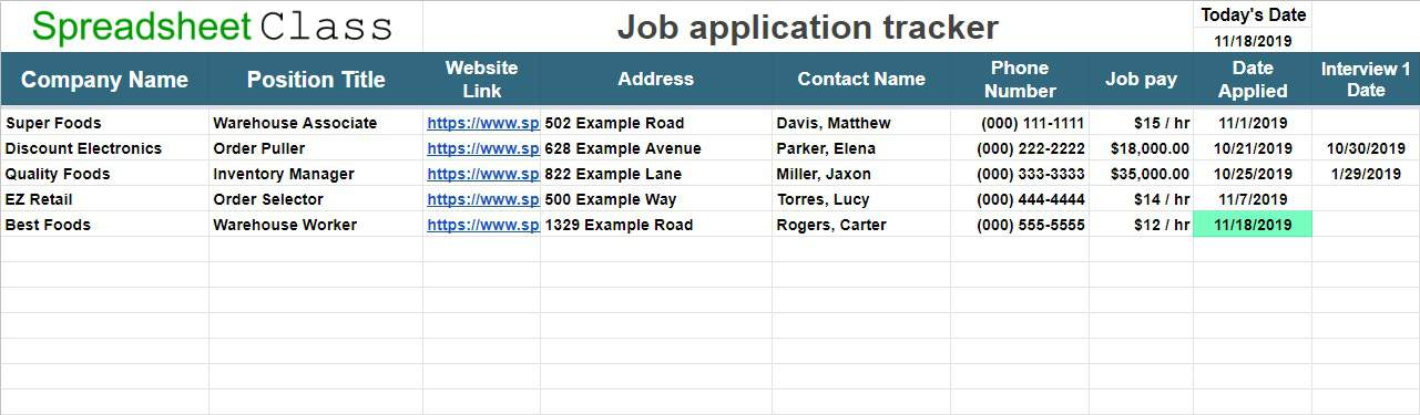 Its integrity has been maintained. Job Application Tracker Template For Google Sheets